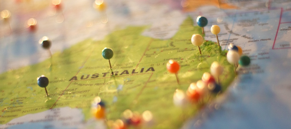 Australia on the map