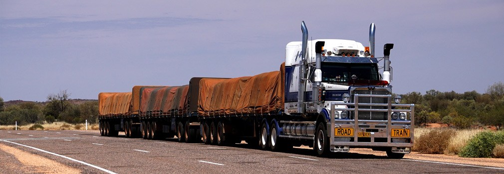 The road train, a phenomenon almost exclusively seen in Australia