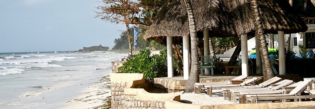 A resort at Diani Beach in Kenya